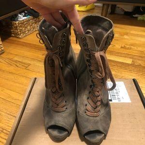 Sam edleman peep toe suede boots